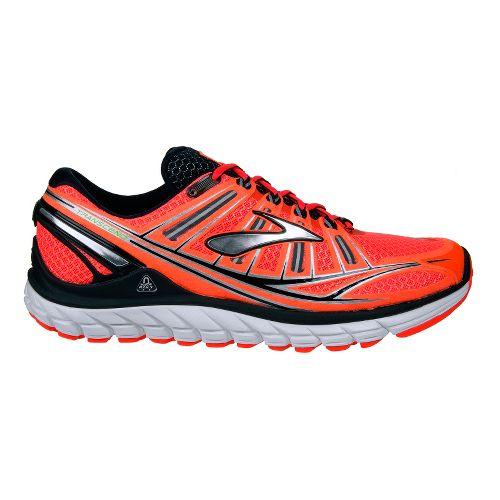 Mens Brooks Transcend Running Shoe - Fire/Black 8.5