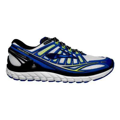 Mens Brooks Transcend Running Shoe - Grey/Blue 12.5