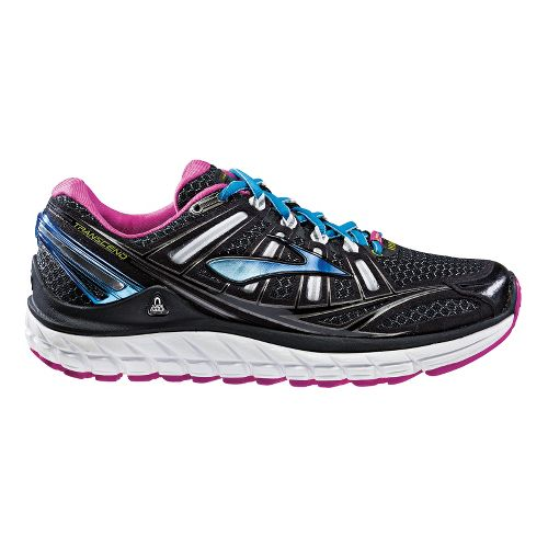 Womens Brooks Transcend Running Shoe - Black 10.5