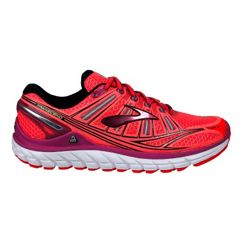 Womens Brooks Transcend Running Shoe - Pink/Black 13