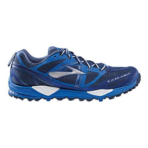 Mens Brooks Cascadia 9 Trail Running Shoe - Blue 15
