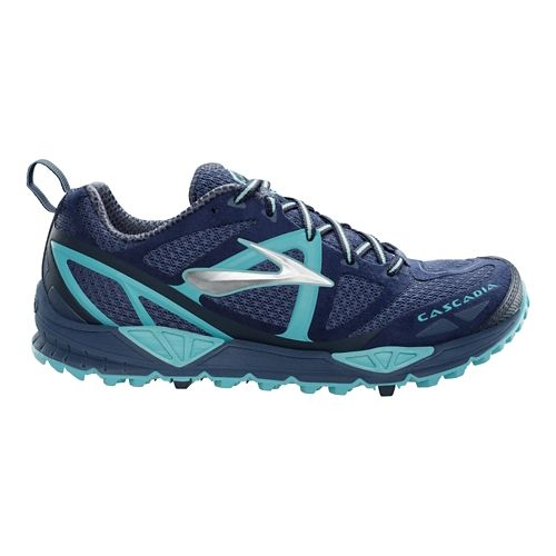 Womens Brooks Cascadia 9 Trail Running Shoe - Blue 5