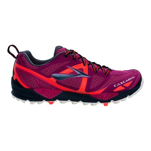 Womens Brooks Cascadia 9 Trail Running Shoe - Fuschia 7