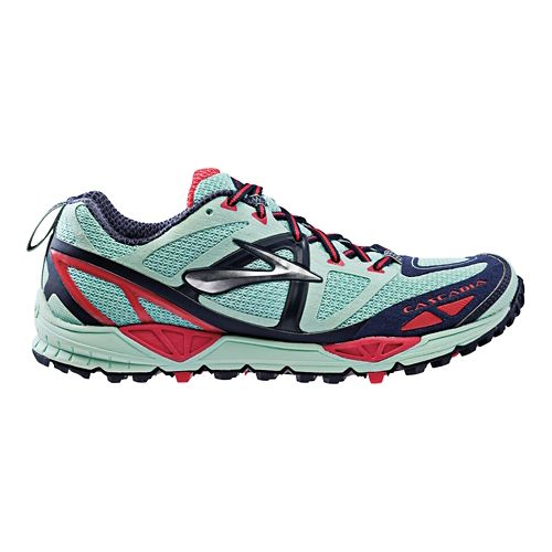 Womens Brooks Cascadia 9 Trail Running Shoe - Mint 5