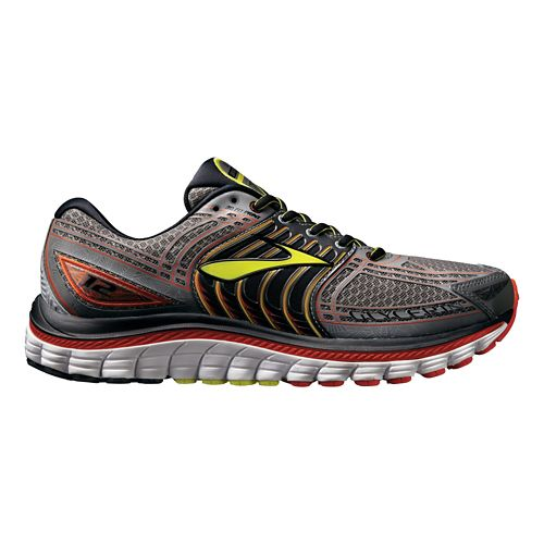 Mens Brooks Glycerin 12 Running Shoe - Grey/Red 13