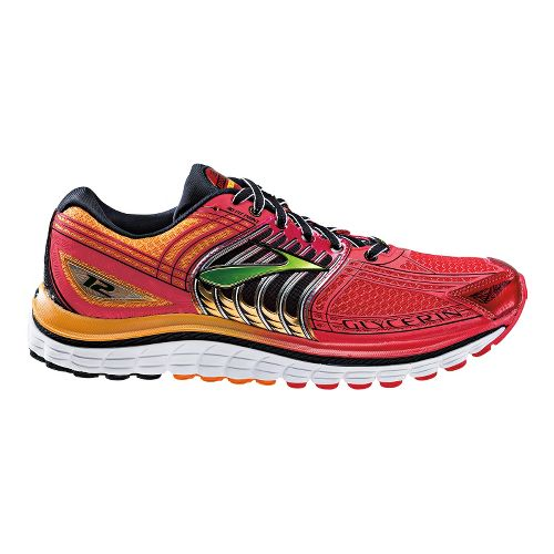Mens Brooks Glycerin 12 Running Shoe - High Risk Red/Flame Orange 7.5