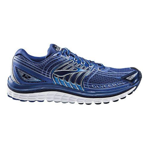 Mens Brooks Glycerin 12 Running Shoe - Grey/Red 12