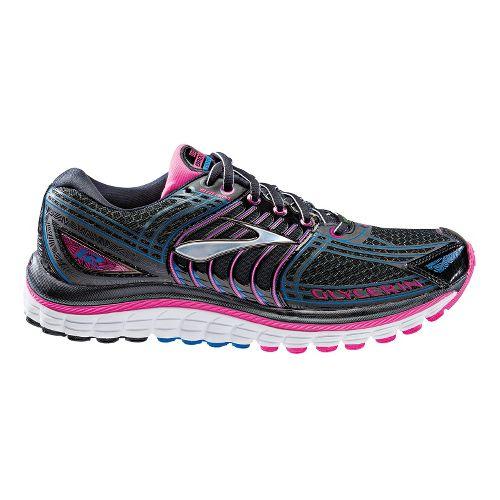 Womens Brooks Glycerin 12 Running Shoe - Black/Pink 5.5