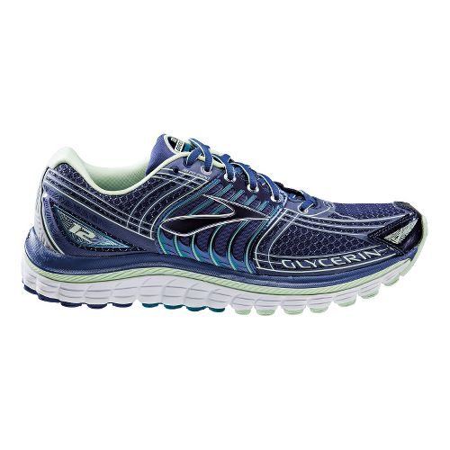 Womens Brooks Glycerin 12 Running Shoe - Blue/Mint 6.5