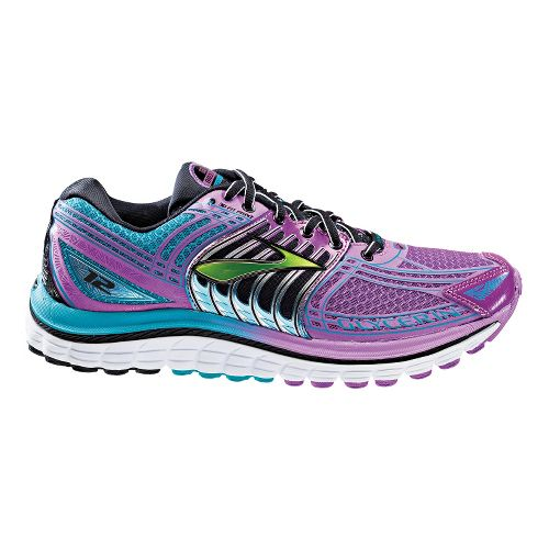 Womens Brooks Glycerin 12 Running Shoe - Purple Cactus Flower/Capri Breeze 11
