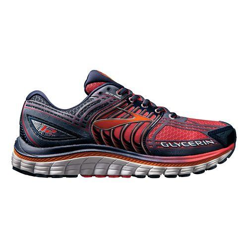 Womens Brooks Glycerin 12 Running Shoe - Raspberry/Navy 12