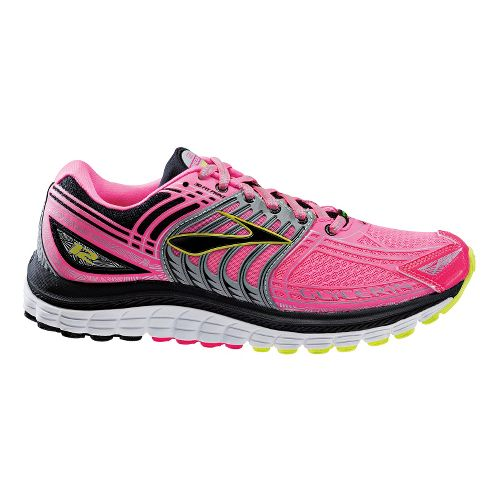 Womens Brooks Glycerin 12 Night Life Running Shoe - Neon Pink 6.5