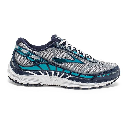 Womens Brooks Dyad 8 Running Shoe - River Rock/Blue Bird 7