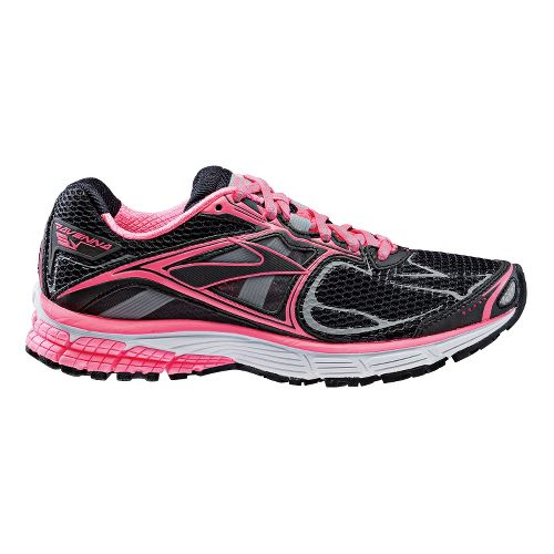 Womens Brooks Ravenna 5 Night Life Running Shoe - Neon Pink 9