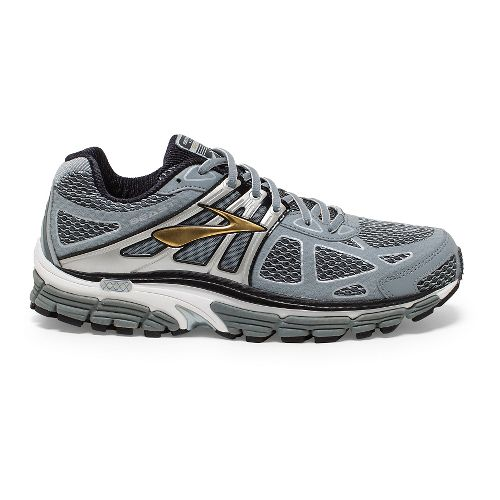 Mens Brooks Beast 14 Running Shoe - Silver 9