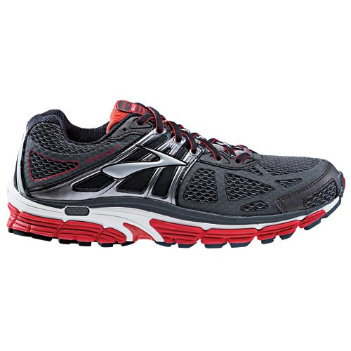 Mens Brooks Beast 14 Running Shoe - Charcoal/Red 10.5