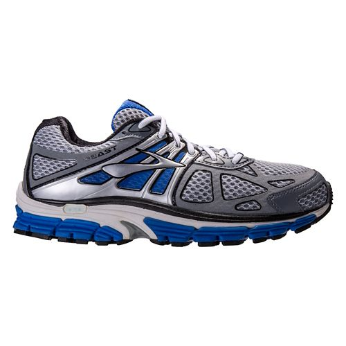 Mens Brooks Beast 14 Running Shoe - Grey/Blue 12.5