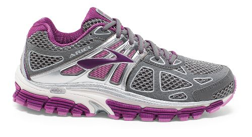 Womens Brooks Ariel 14 Running Shoe - Grey/Violet 6.5