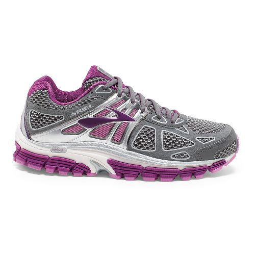 Womens Brooks Ariel 14 Running Shoe - Grey/Violet 7.5