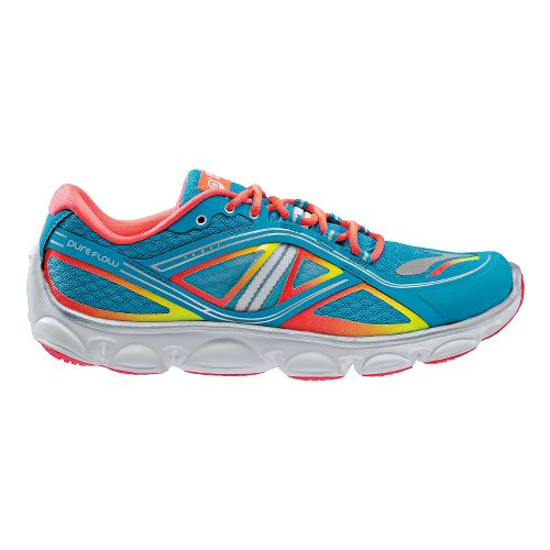 Kids Brooks PureFlow 3 Running Shoe - Atomic Blue/Fiery Coral 7Y