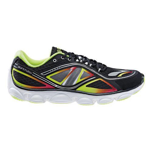Kids Brooks PureFlow 3 Running Shoe - Black/Blazing Yellow 5.5