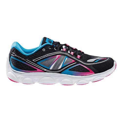 Kids Brooks PureFlow 3 Running Shoe - Black/Raspberry 3.5