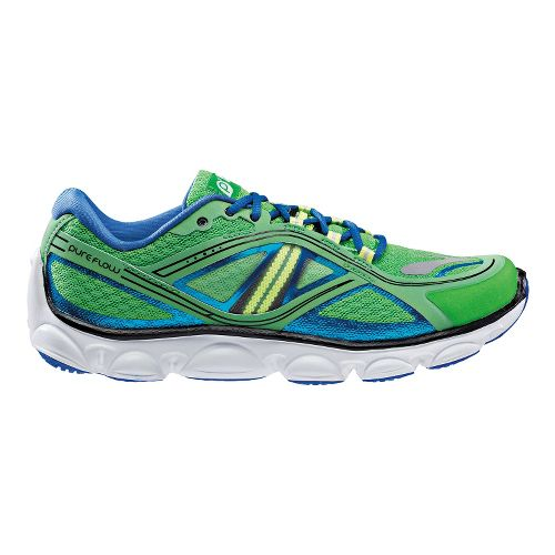 Kids Brooks PureFlow 3 Running Shoe - Classic Green/Electric 3