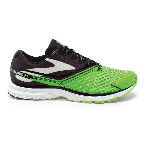 Mens Brooks Launch 2 Running Shoe - Brite Green/Black 10.5