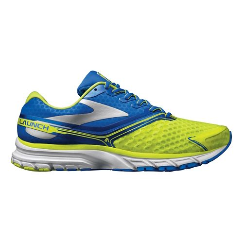 Mens Brooks Launch 2 Running Shoe - Neon/Blue 12.5