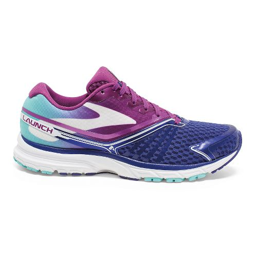 Womens Brooks Launch 2 Running Shoe - Berry/Blue 7.5