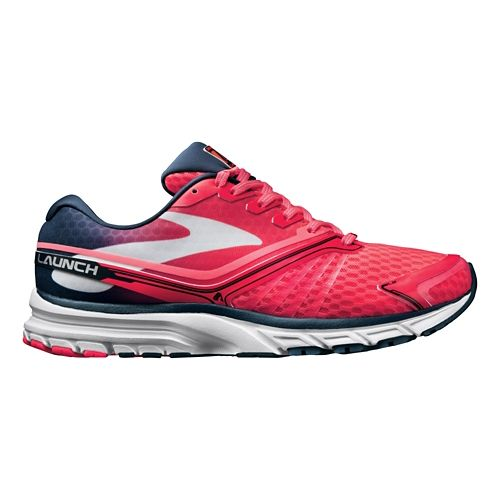 Womens Brooks Launch 2 Running Shoe - Pink/Navy 7.5