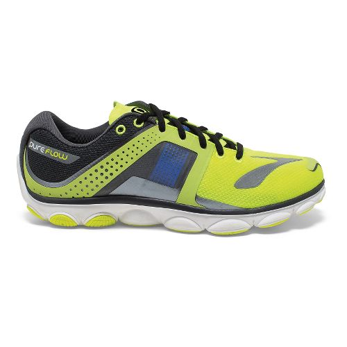 Mens Brooks PureFlow 4 Running Shoe - Nightlife/Anthracite 9