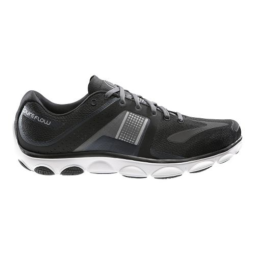 Mens Brooks PureFlow 4 Running Shoe - Black 10.5