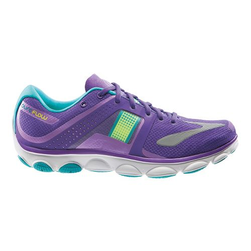 Womens Brooks PureFlow 4 Running Shoe - Purple/Green 11.5