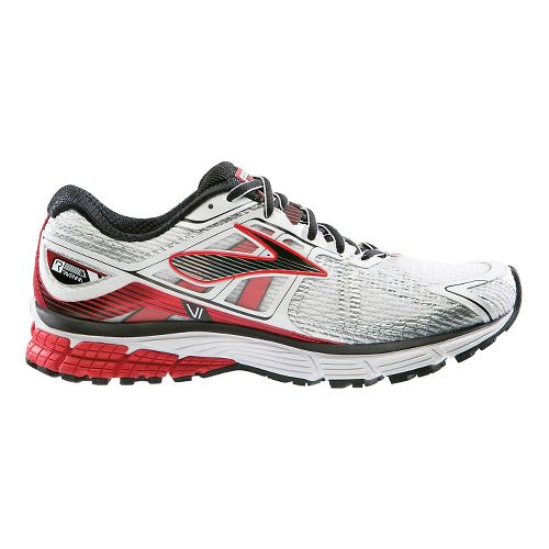 Mens Brooks Ravenna 6 Running Shoe - Silver/Red 7.5