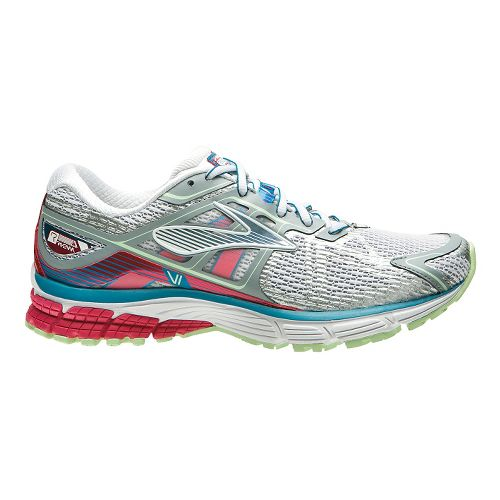 Womens Brooks Ravenna 6 Running Shoe - Silver/Berry 9.5