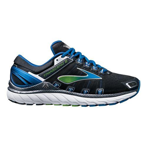 Mens Brooks Transcend 2 Running Shoe - Charcoal/Blue 8.5
