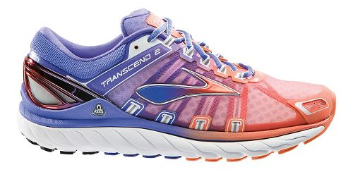 Womens Brooks Transcend 2 Running Shoe - Purple/Coral 6