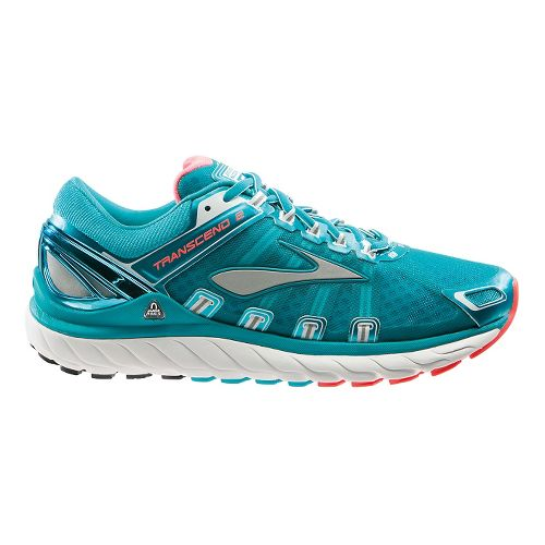 Womens Brooks Transcend 2 Running Shoe - Teal 10.5