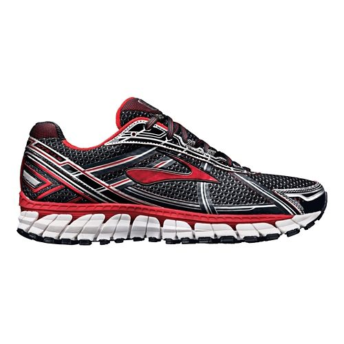 Mens Brooks Adrenaline GTS 15 Running Shoe - Black/Red 7.5