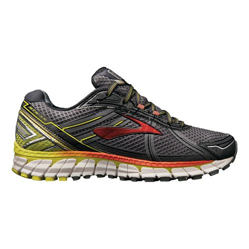 Mens Brooks Adrenaline GTS 15 Running Shoe - Charcoal/Lime 9.5