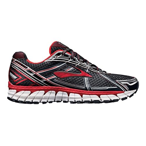 Mens Brooks Adrenaline GTS 15 Running Shoe - Black/Red 12.5