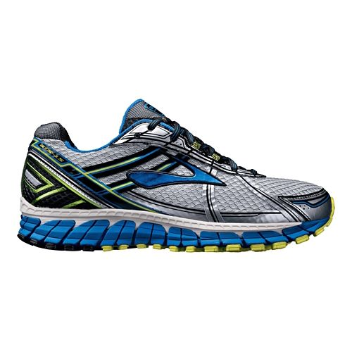 Mens Brooks Adrenaline GTS 15 Running Shoe - Silver/Blue 8.5