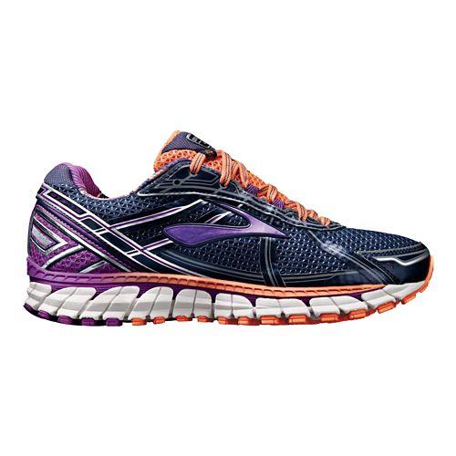 Womens Brooks Adrenaline GTS 15 Running Shoe - Navy/Purple 6.5