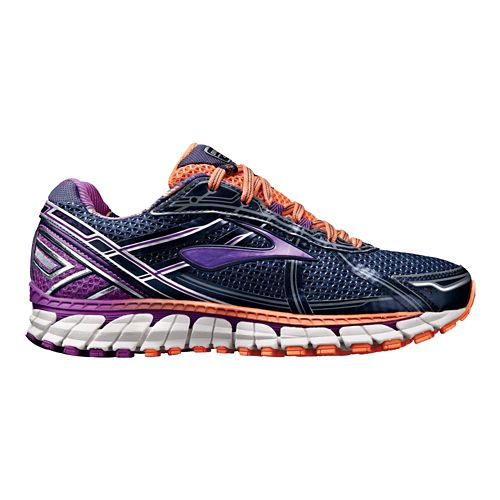 Womens Brooks Adrenaline GTS 15 Running Shoe - Navy/Purple 7.5