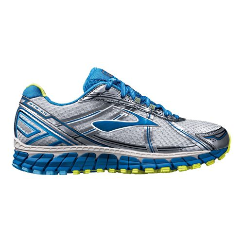 Womens Brooks Adrenaline GTS 15 Running Shoe - Silver/Blue 7.5