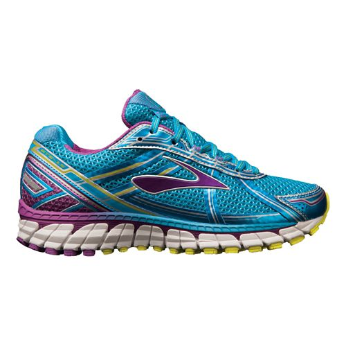 Womens Brooks Adrenaline GTS 15 Running Shoe - Navy/Purple 5.5