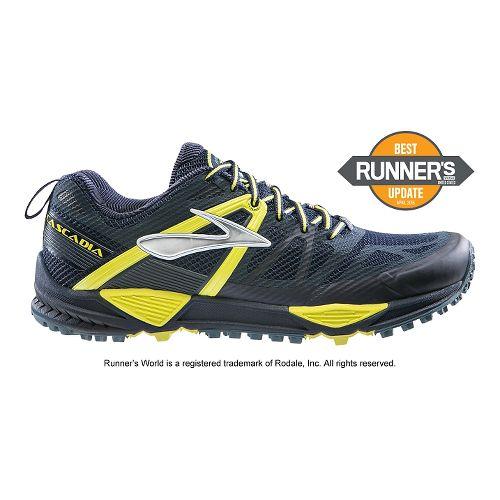 Mens Brooks Cascadia 10 Trail Running Shoe - Midnight 15