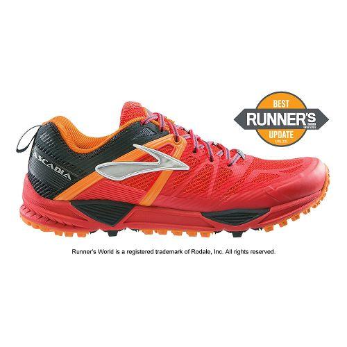 Mens Brooks Cascadia 10 Trail Running Shoe - Red 10.5
