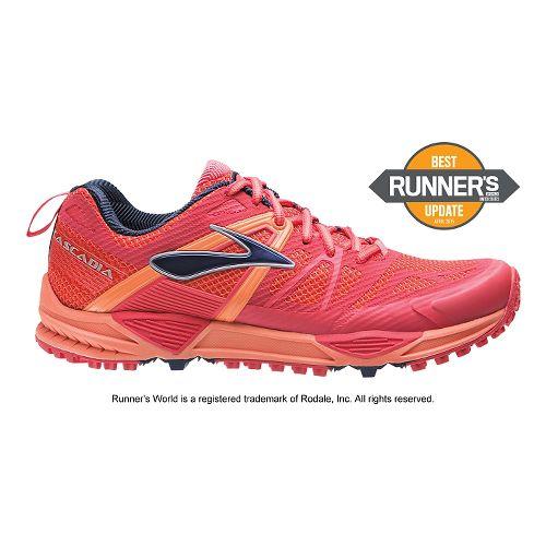 Womens Brooks Cascadia 10 Trail Running Shoe - Berry 5.5